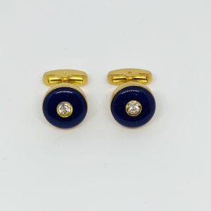 Butoni aurii albastrii luciosi