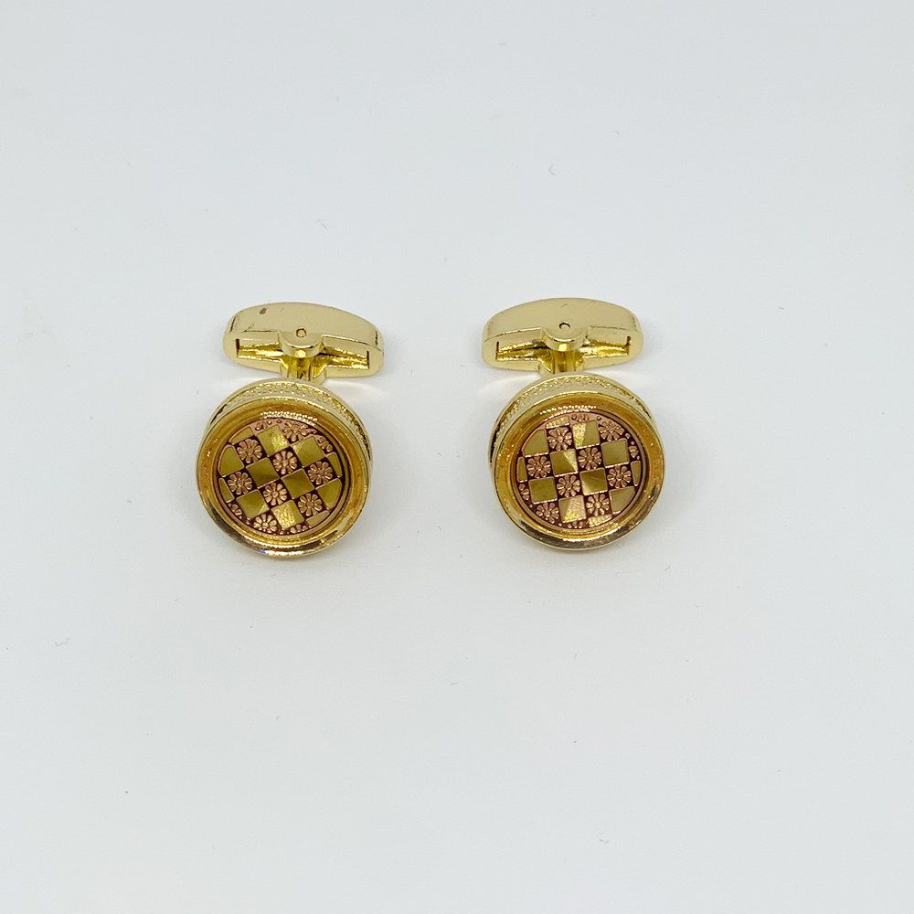 Butoni aurii gold cu model