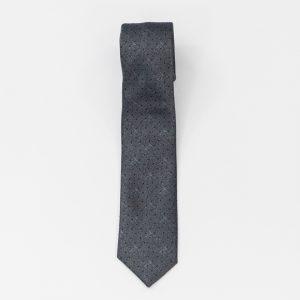 Cravata gri cu puncte