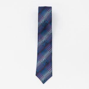 Cravata albastra cu model