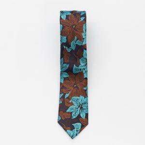Cravata maro cu model Piatra Neamt