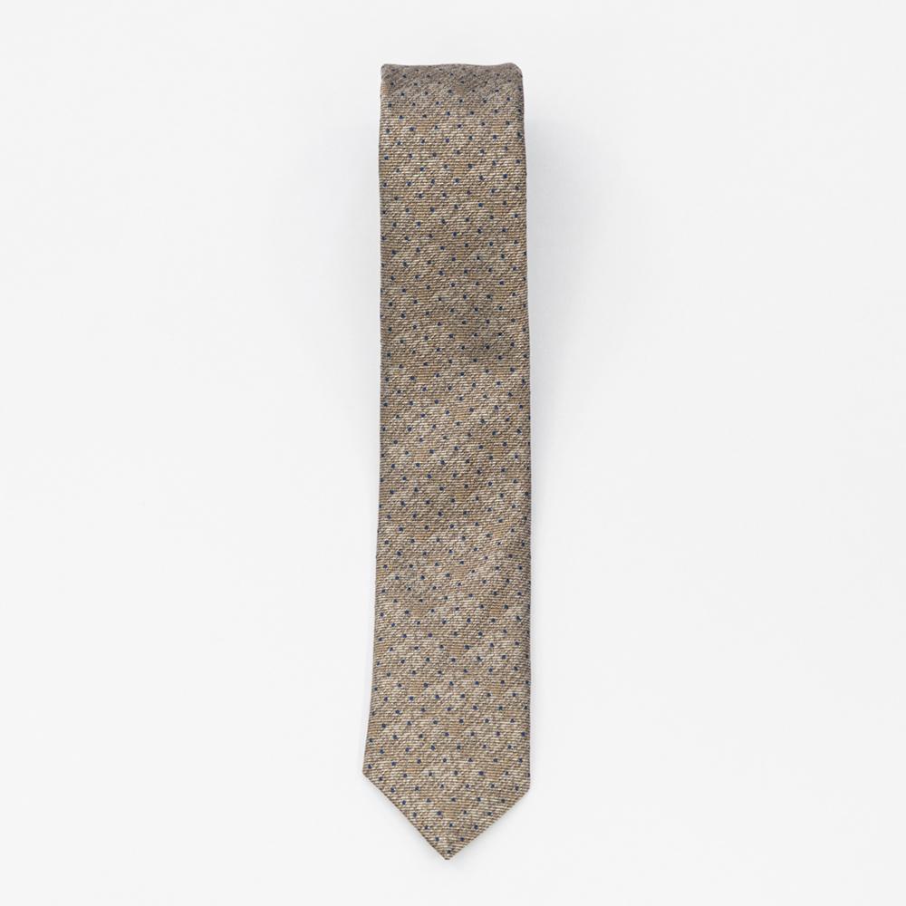 Cravata Bej cu Picatele