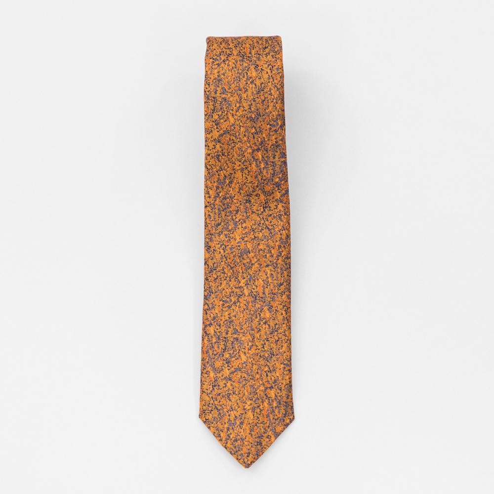 Cravata maro deschis cu portocaliu