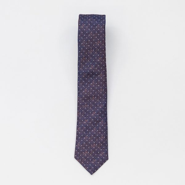 Cravata mov cu picatele
