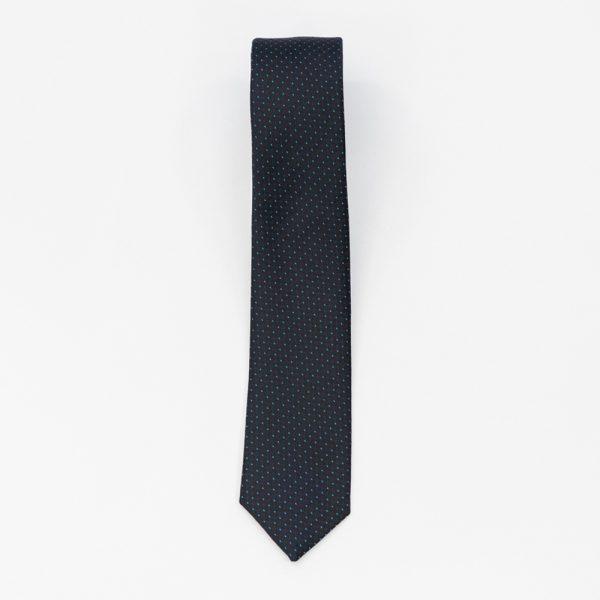 Cravata neagra cu puncte albastre