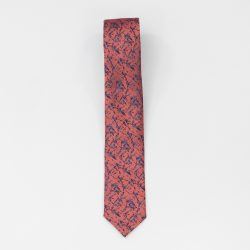 Cravata Roz cu Flori Albastre Neamt