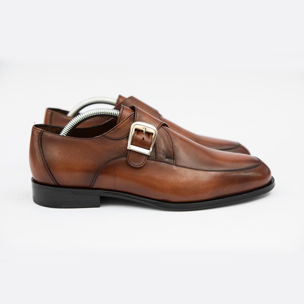 Pantofi maro din piele eleganti 4men ceremony
