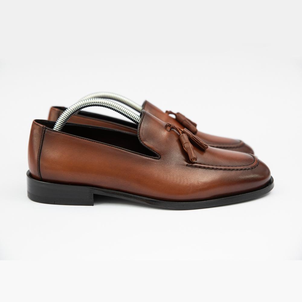Pantofi maro fara sireturi