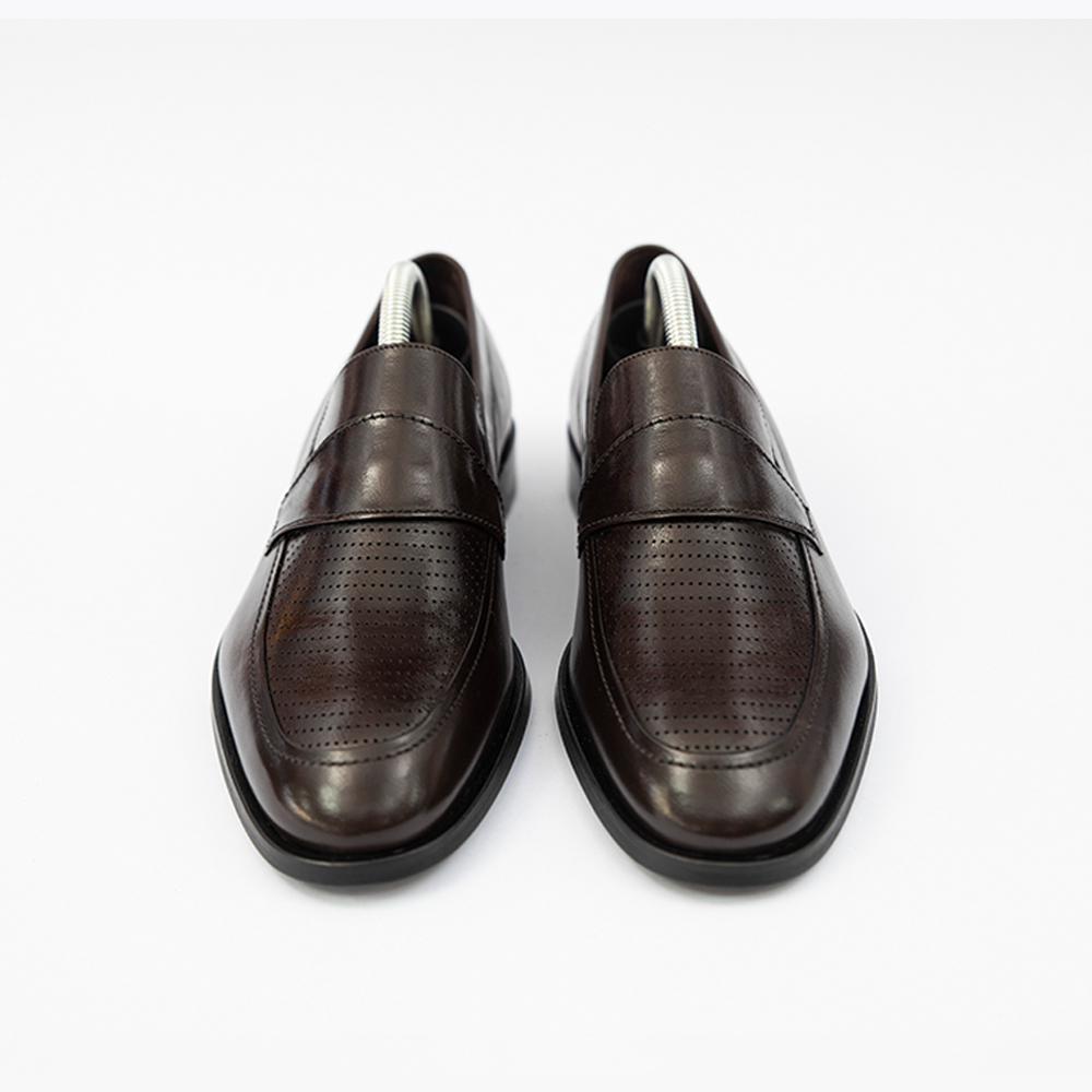Pantofi maro inchis fara sireturi