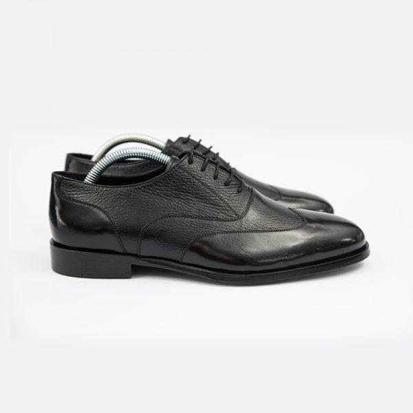 Pantofi negrii din piele 4Men Ceremony