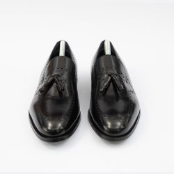 Pantofi negrii din piele cu model Piatra Neamt